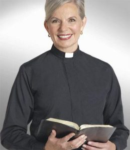 Women's Long Sleeve Tab Collar Clergy Shirt by Murphy Robes