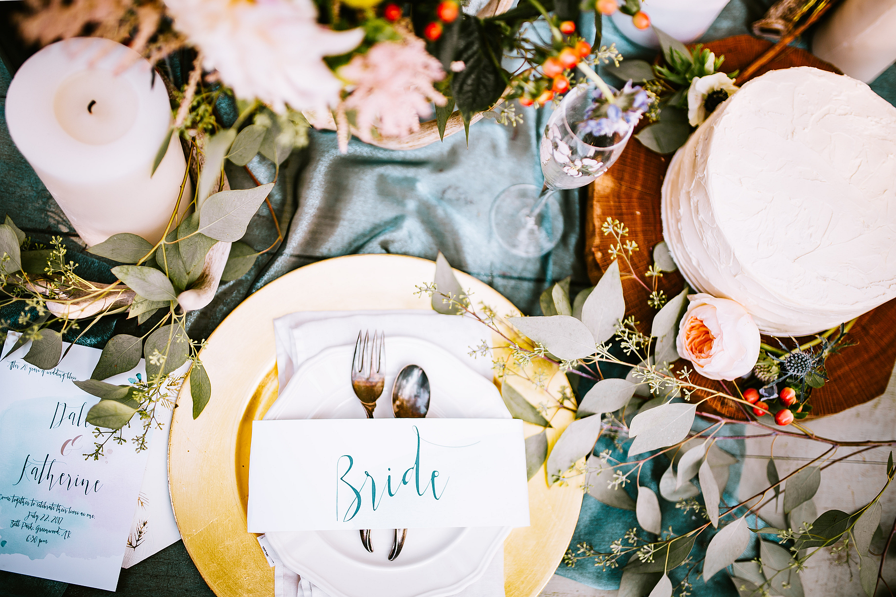 Bride's Place Setting For Minister Ordination (Photo)