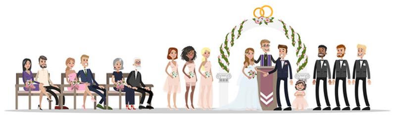 Wedding Party Diagram (Image)