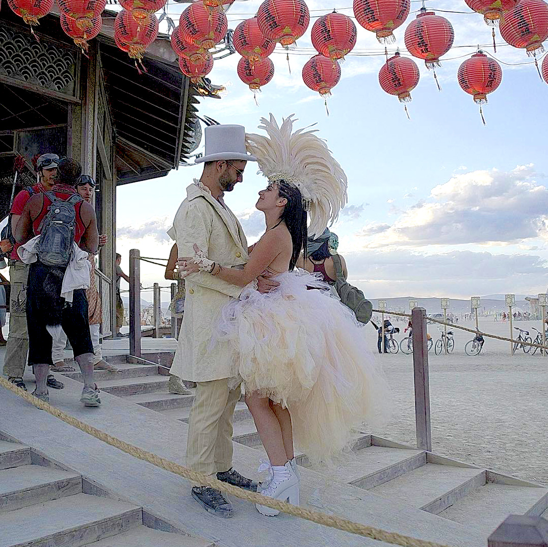 Burning Man Wedding Ceremony (Photo)